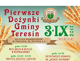 plakat dozynki gminy teresin 2017