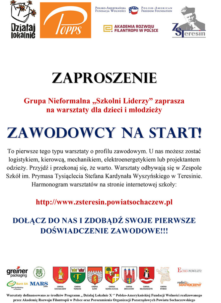 ZAWODOWCY NA START 2 zaproszenie-2