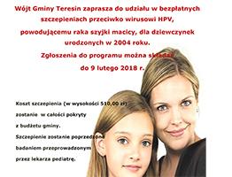 Plakat szczepienia mini