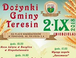 plakat dozynki gminy teresin 2018 A3