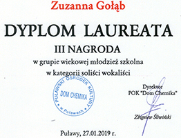 Dyplom Zuzanna Gołąb Mini