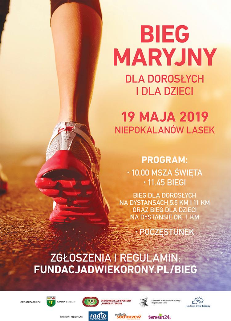 Plakat Bieg Maryjny 2019